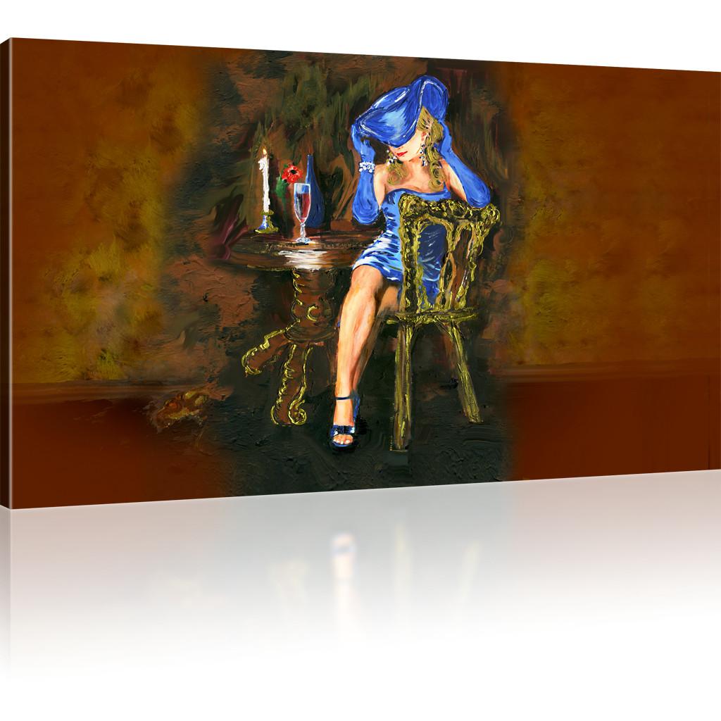bilder dame mit dem hut kunstdruck frau bilder auf. Black Bedroom Furniture Sets. Home Design Ideas