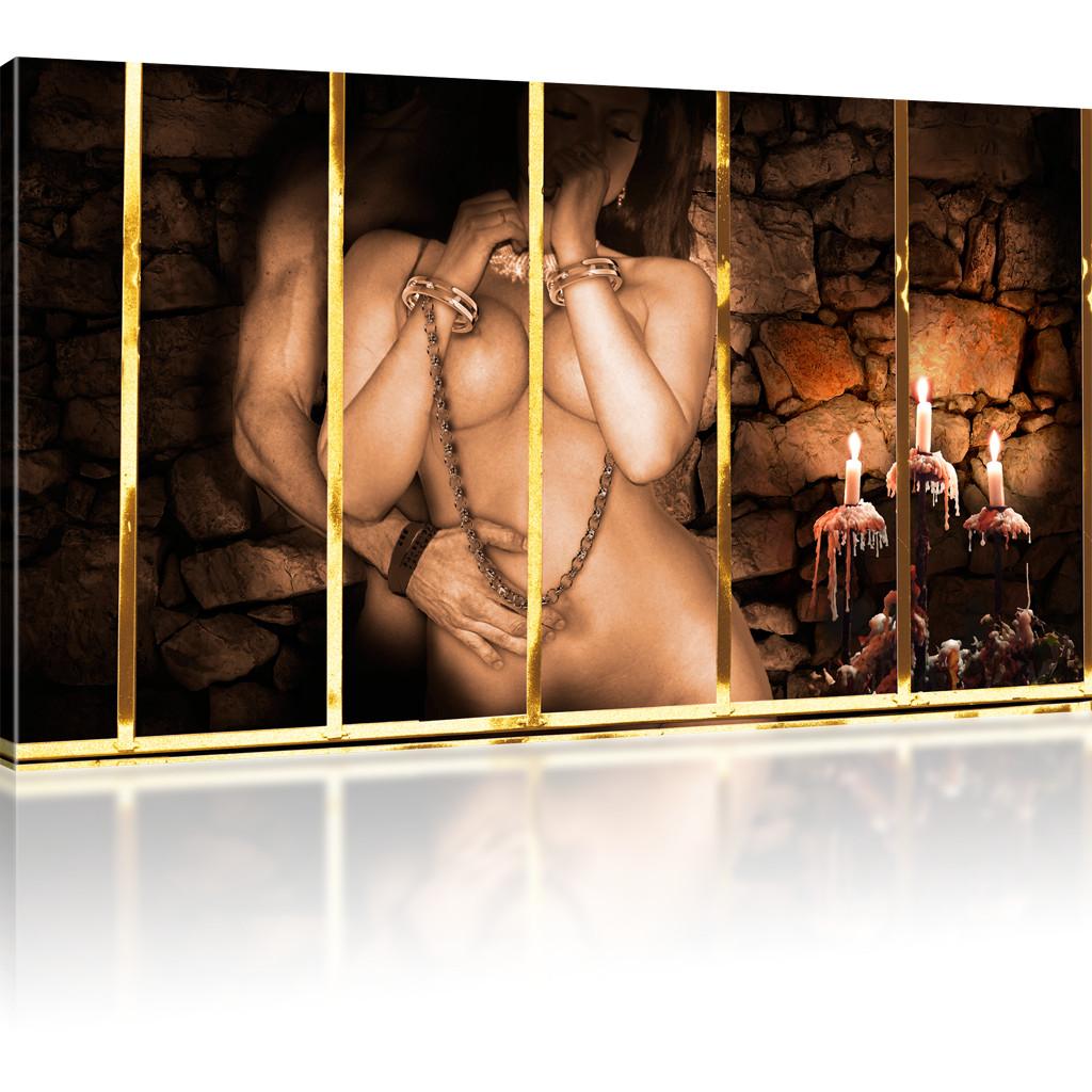 Bilder Erotik Mann und Frau Kunstdruck Gitter Bilder auf Leinwand Wandbilder