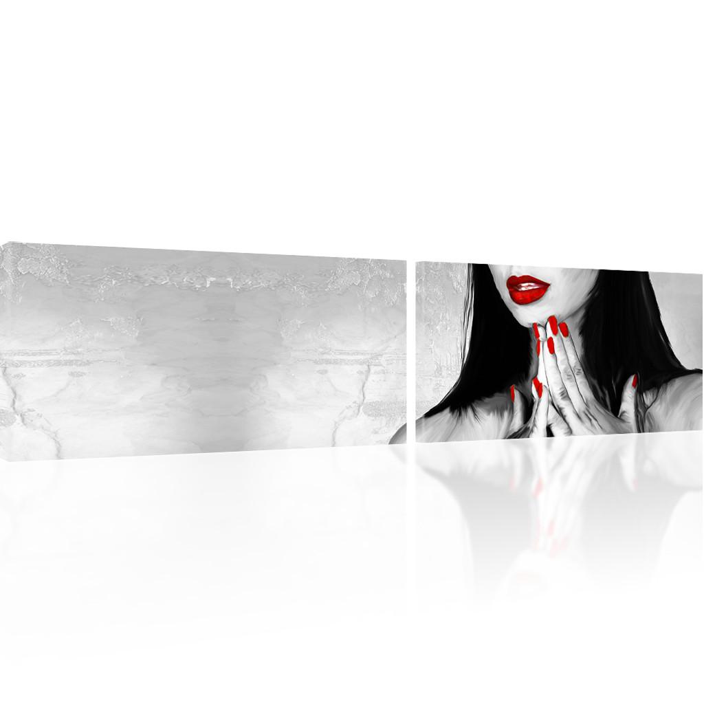 bild auf leinwand sexy lippen einer frau wandbild kunstdruck ebay. Black Bedroom Furniture Sets. Home Design Ideas