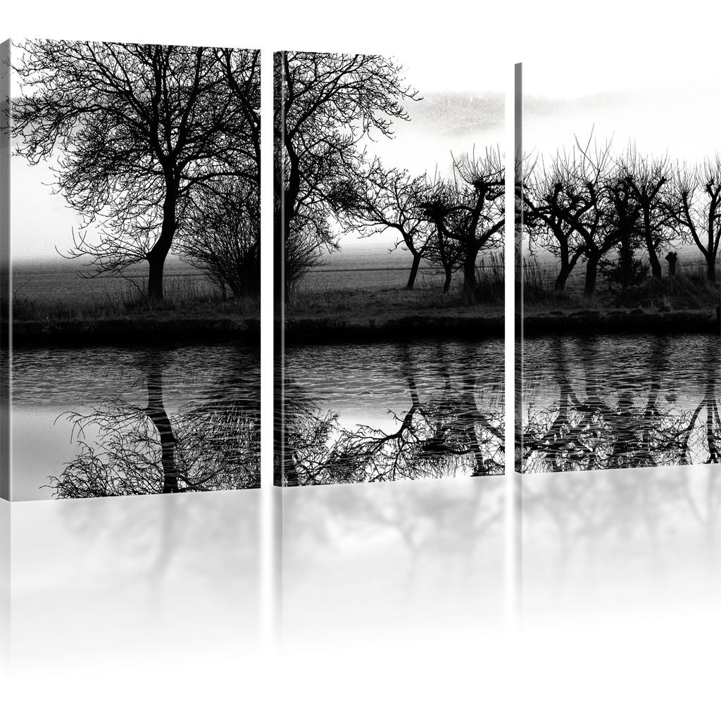 bilder landschaft wandbild auf leinwand baum leinwandbild ebay. Black Bedroom Furniture Sets. Home Design Ideas