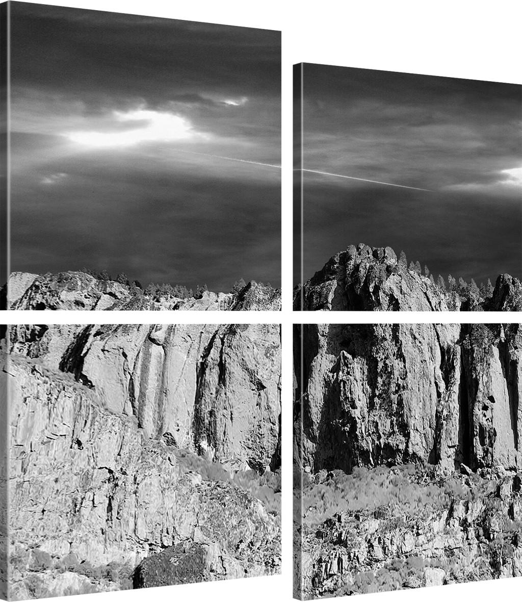 felsen landschaft bild auf leinwand leinwandbild wandbild bilder ebay. Black Bedroom Furniture Sets. Home Design Ideas