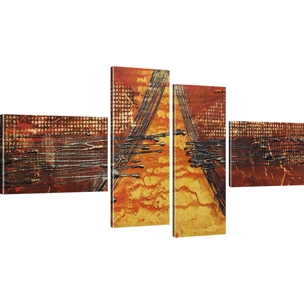 Bilder abstrakte pyramide wandbilder auf leinwand kunstdruck ebay - Abstrakte wandbilder ...