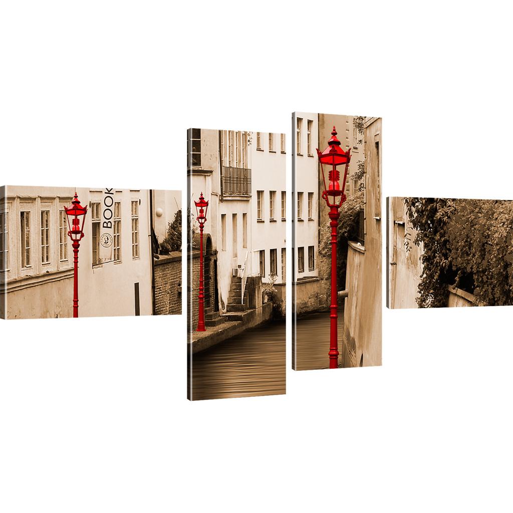 bilder stra enlaterne beleuchtung wandbild architektur bild auf leinwand laterne ebay. Black Bedroom Furniture Sets. Home Design Ideas
