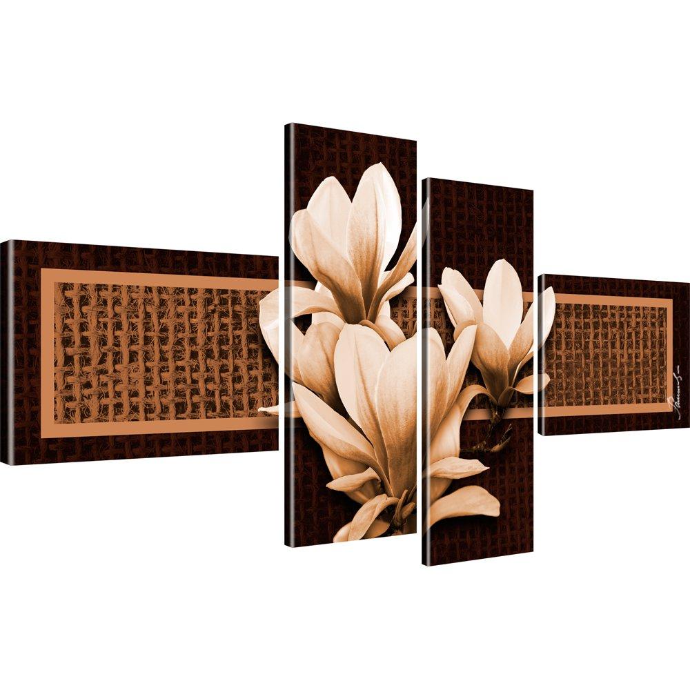 bilder auf leinwand farbe und gr e w hlbar blumen magnolien ebay. Black Bedroom Furniture Sets. Home Design Ideas