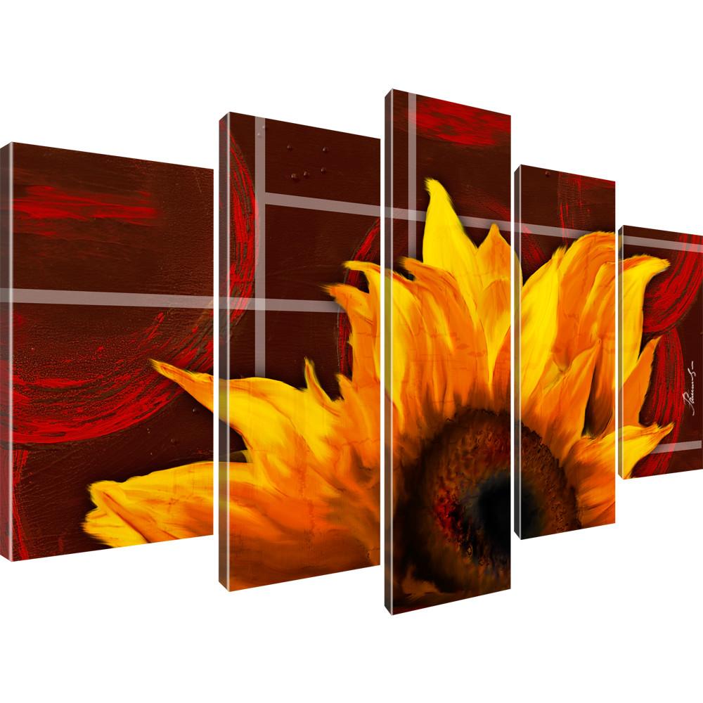 wandbilder sonnenblume blume wandbild auf leinwand. Black Bedroom Furniture Sets. Home Design Ideas