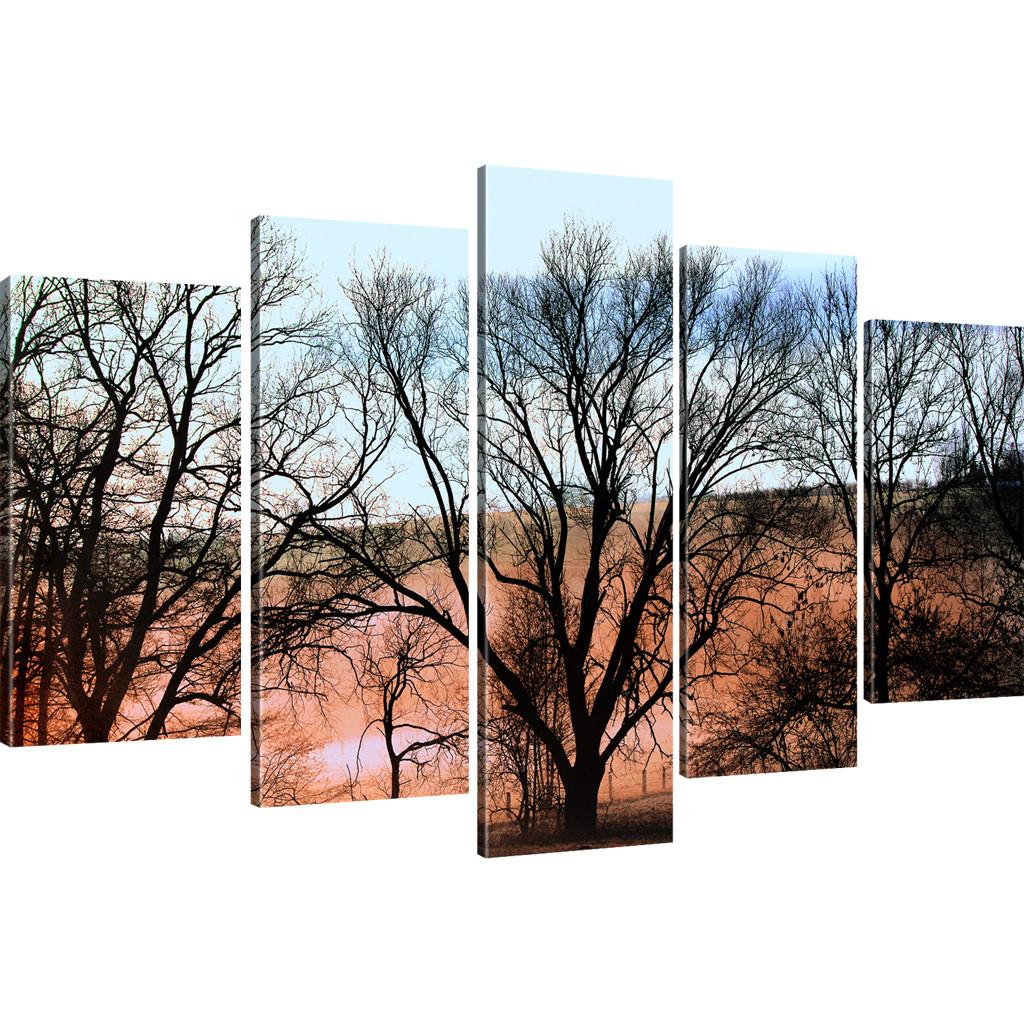 bilder b ume herbst jahreszeiten landschaft wandbilder auf leinwand ebay. Black Bedroom Furniture Sets. Home Design Ideas