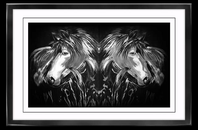 poster auf leinwand mit rahmen pferde tiere wandbilder. Black Bedroom Furniture Sets. Home Design Ideas
