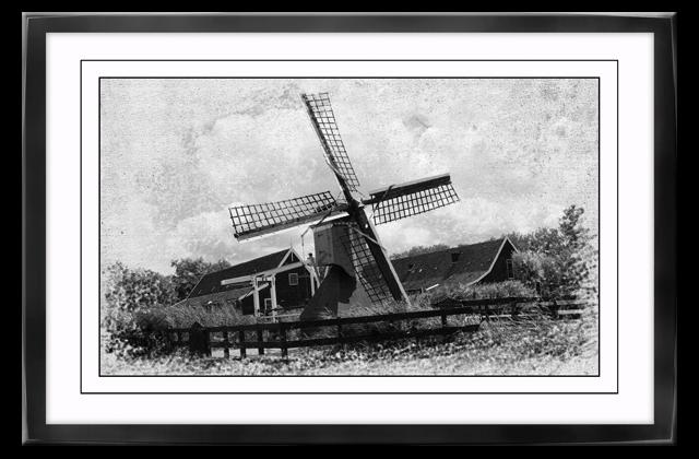 Poster auf Leinwand mit Rahmen Windmühle Leinwandbild Plaxiglas