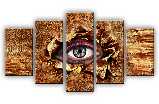 Auge abstrakt leinwandbilder digitalart mehrteilig ebay - Leinwandbilder mehrteilig ...