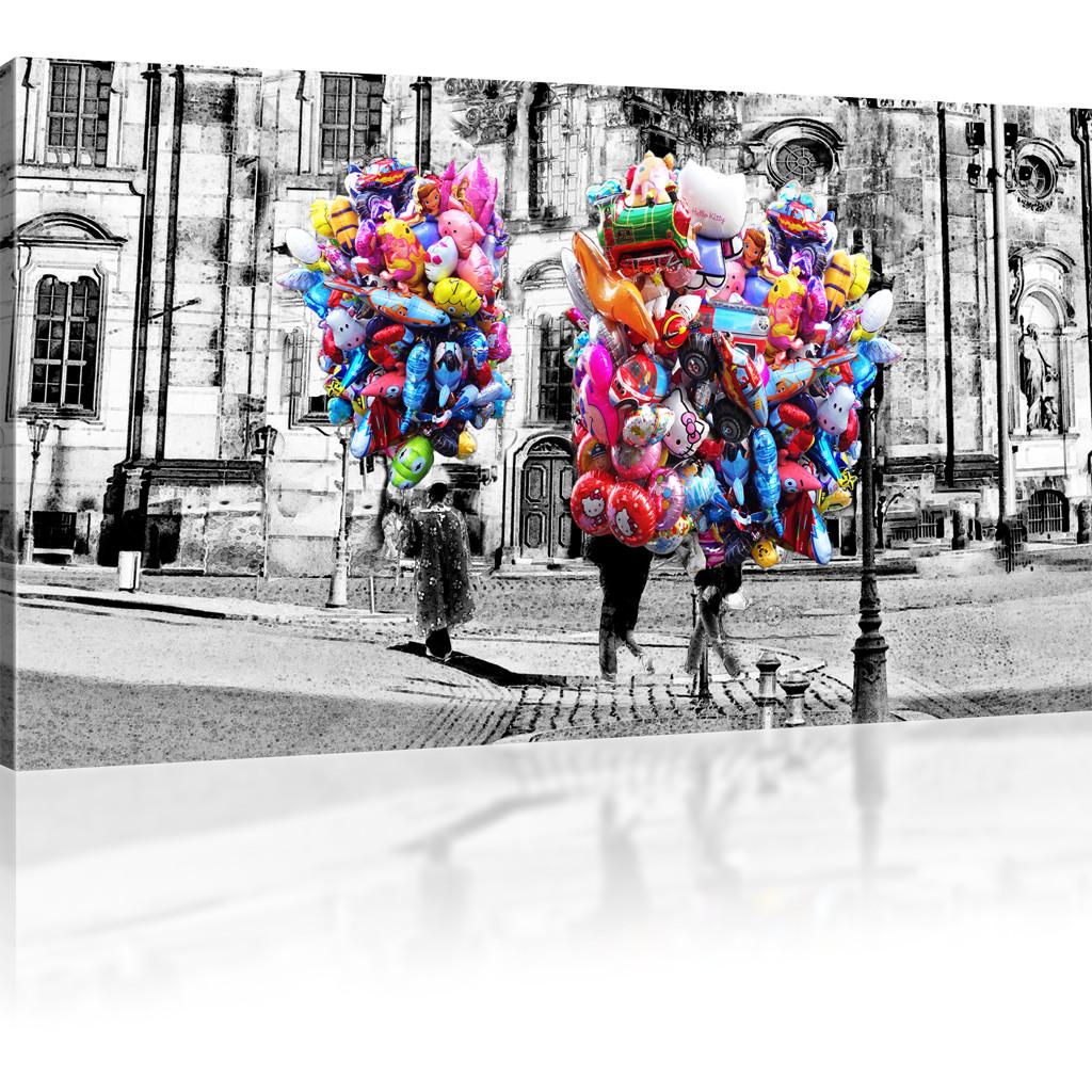 Kunstdruck Leinwand luftballons in dresden bilder auf leinwand stadt kunstdruck