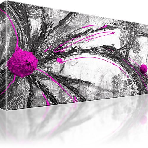 Bilder abstraktes wandbild leinwandbilder abstraktion ebay - Leinwandbild grau ...