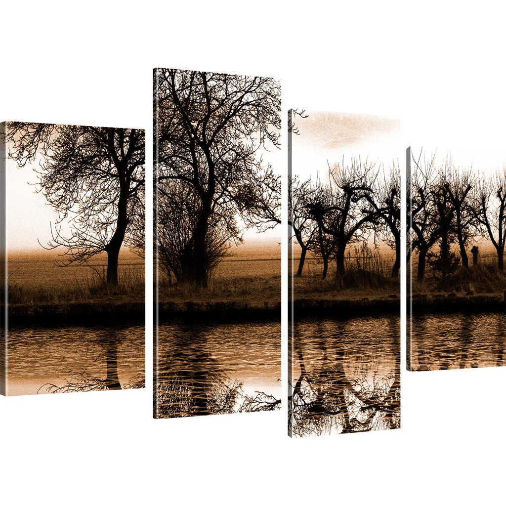 bilder landschaft wandbild auf leinwand baum leinwandbild. Black Bedroom Furniture Sets. Home Design Ideas