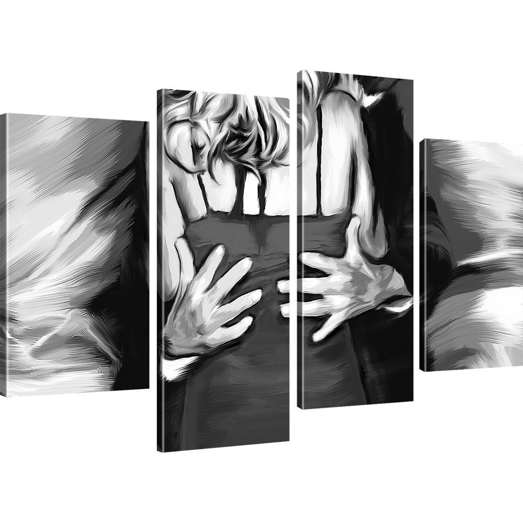 bilder mann und frau der tanz bilder auf leinwand schwarz. Black Bedroom Furniture Sets. Home Design Ideas