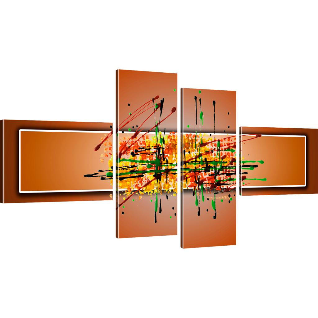 bilder farbige abstraktion wandbilder auf leinwand ebay. Black Bedroom Furniture Sets. Home Design Ideas