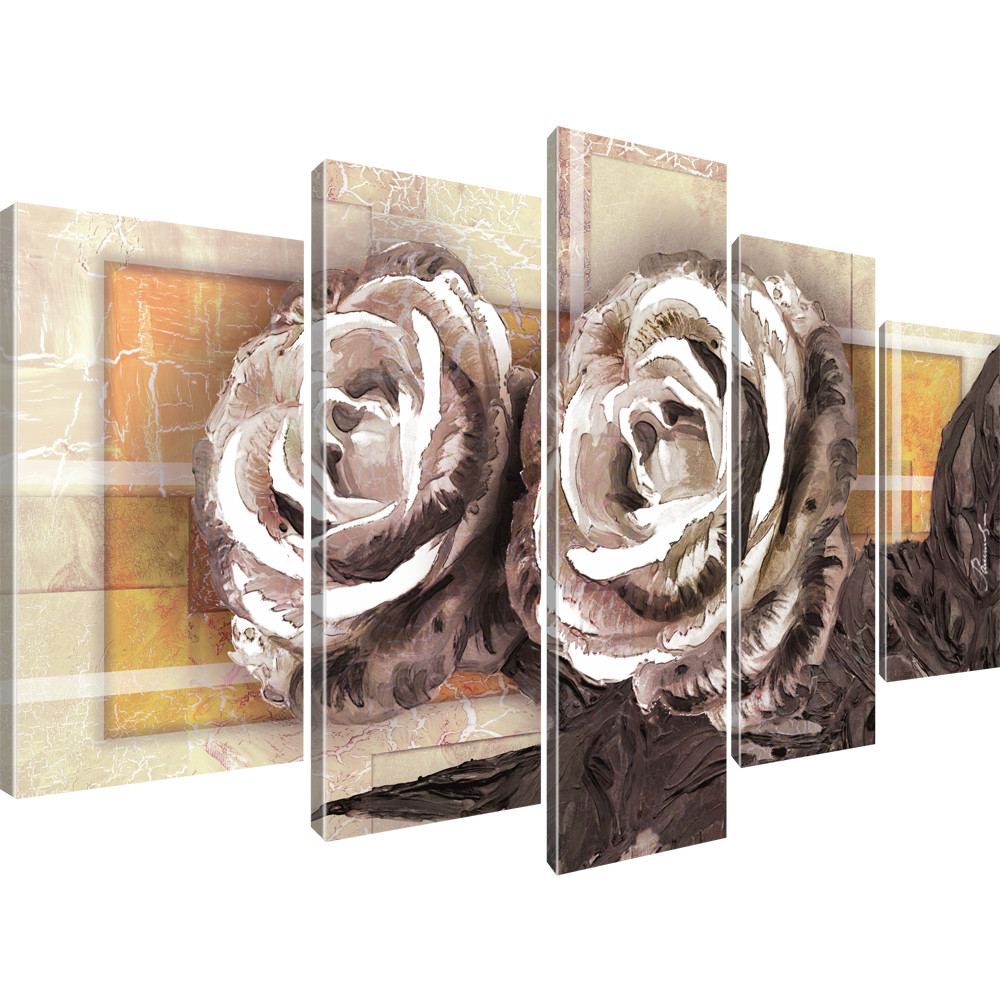 bilder rosen blumen kunst wandbild auf leinwand ebay. Black Bedroom Furniture Sets. Home Design Ideas