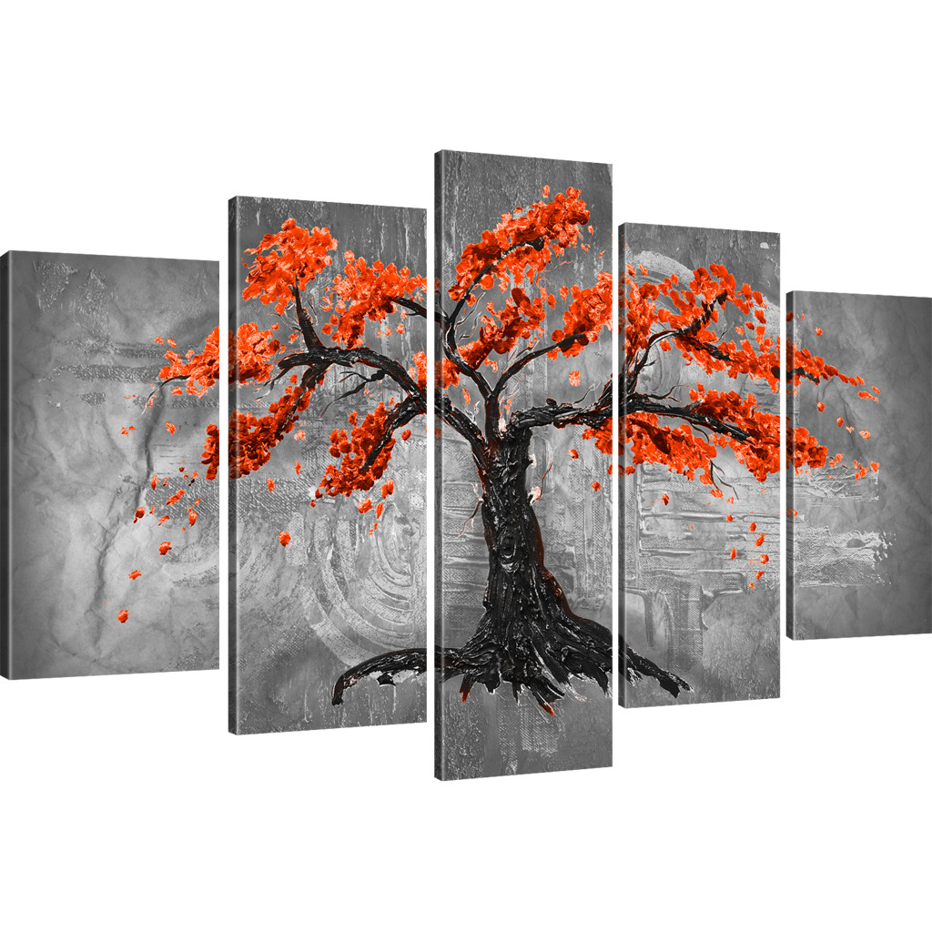 bilder japanische kirschbl te sakura baum abstraktes wandbild auf leinwand ebay. Black Bedroom Furniture Sets. Home Design Ideas