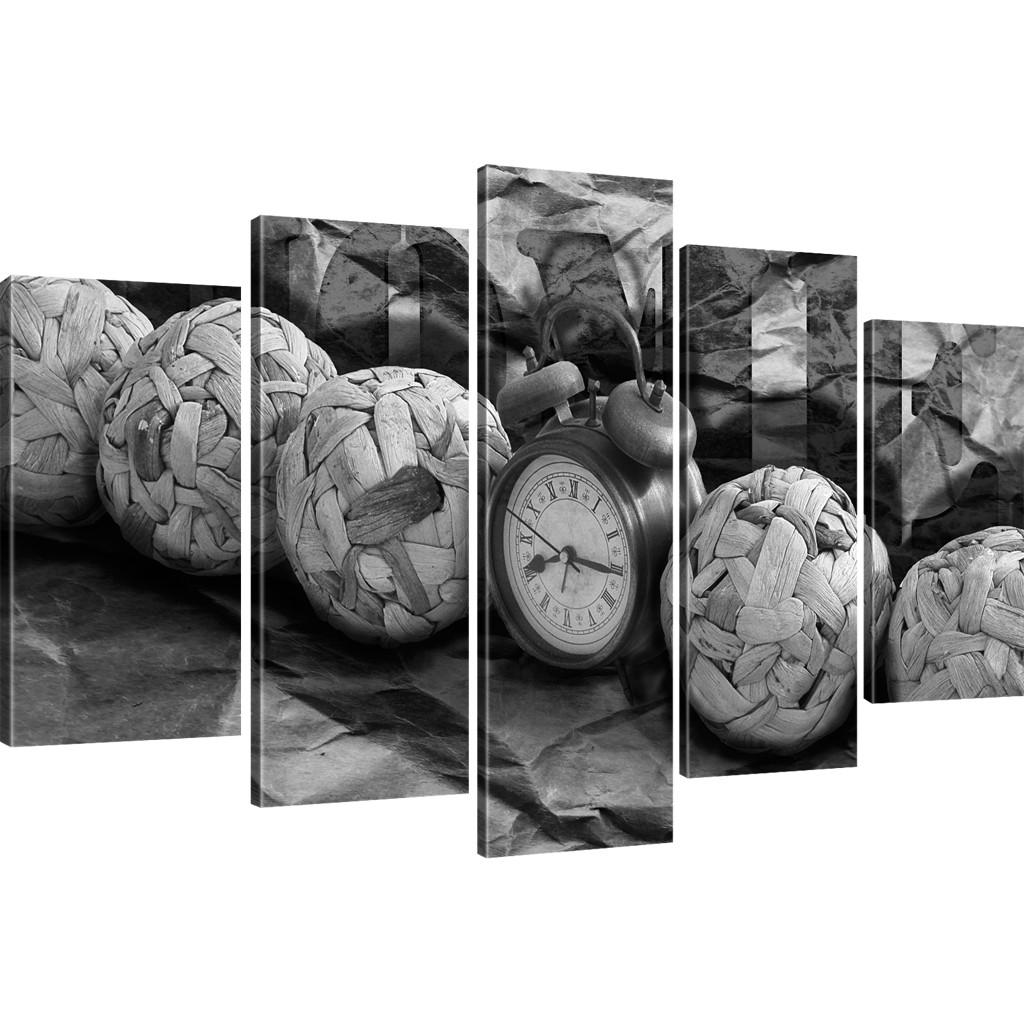 bilder uhr wandbild wecker kunstdruck auf leinwand zeit leinwandbild home ebay. Black Bedroom Furniture Sets. Home Design Ideas