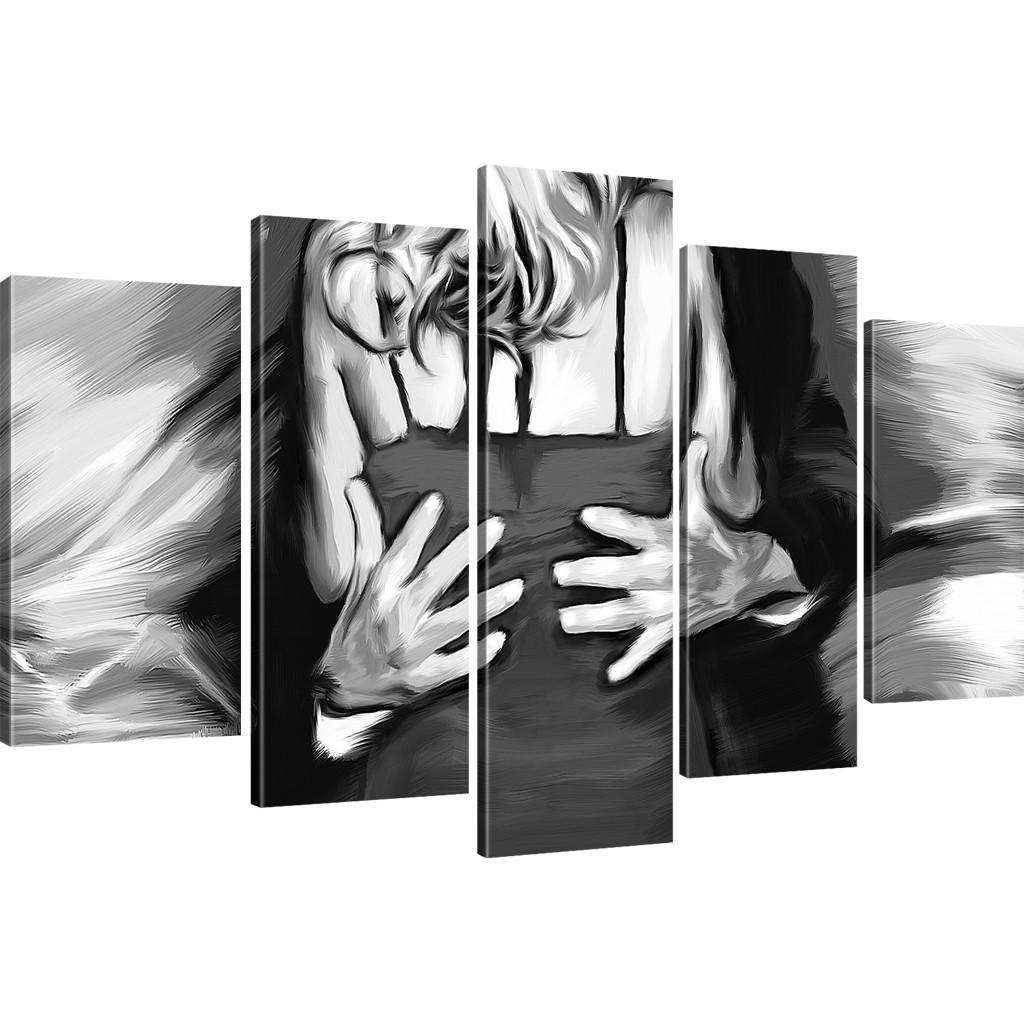 bilder mann und frau der tanz bilder auf leinwand schwarz weiss rot ebay. Black Bedroom Furniture Sets. Home Design Ideas