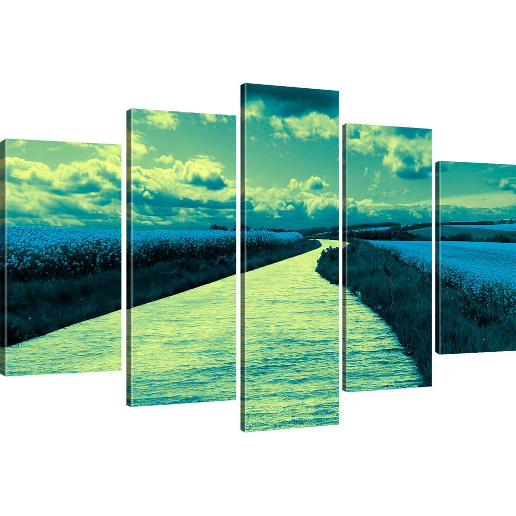 Wandbilder natur  Bilder Landschaft mit Fluss Wandbilder Natur Bild auf Leinwand | eBay